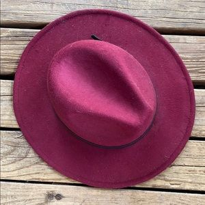Vegan faux wool stiff brim hat!